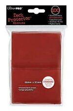 100 DECK PROTECTORS Standard Red Rosso MTG MAGIC Ultra Pro
