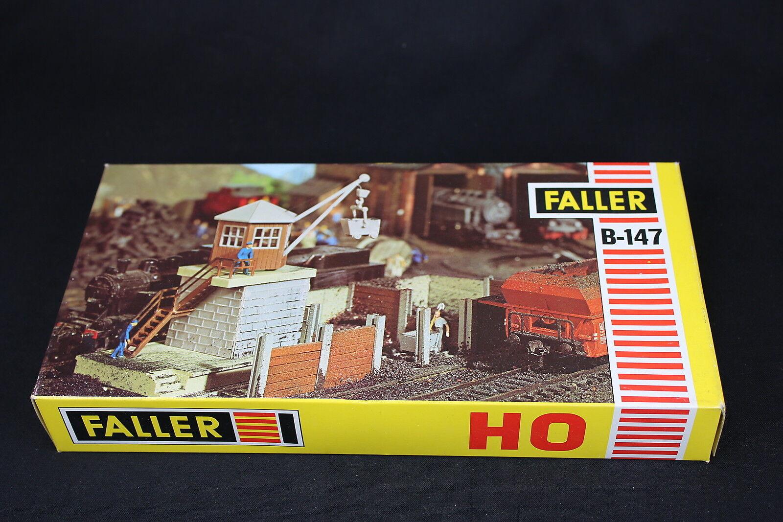 W009 Faller Treno Modellino Ho B-147 Stazione Caricamento Gru + 635 Motor