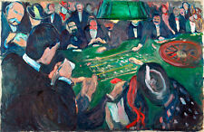 At the Roulette Table in Monte Carlo by Edvard Munch A1 Quality Canvas Print