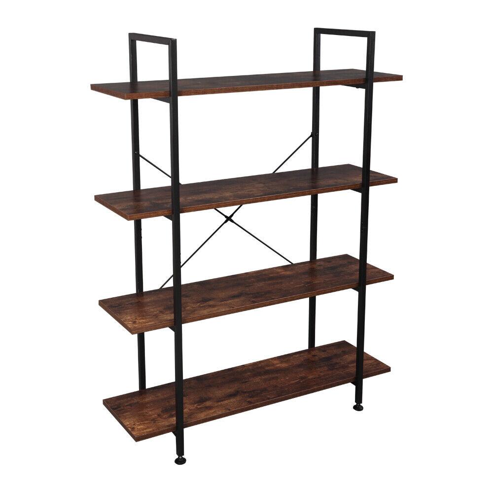 17 Stories Crocker Industrial 4 Tier Shelf Etagere Bookcase For Sale Online Ebay