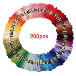 200-skeins-of-multicolored-yarn-for-cross-stitch-embroidery-Crocheting-FP