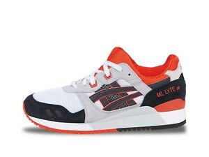5e5260cea203 Asics GEL-LYTE III (White   Black   Orange)  H518N-0190  Tiger ...