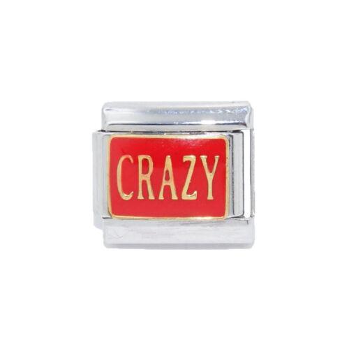 Crazy Rojo Esmalte Italiano encanto-se adapta a 9mm clásico italiano pulseras