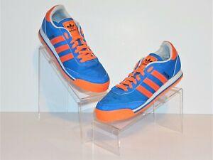 nuevas variedades Super baratas bonita y colorida Adidas Azul/Naranja/Blanco