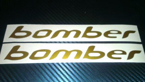 2 BOMBER  Decals stickers Bike Fork