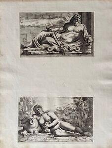 François Perrier segmenta nobilium Antike Neptun Silenus Mythologie Satyr 1638