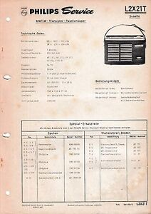 Zielsetzung Service Manual-anleitung Für Philips L2 X21 T,susette Tv, Video & Audio