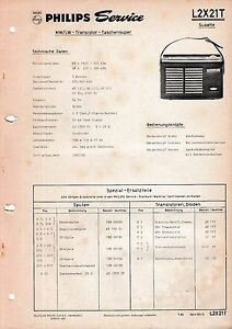 Tv, Video & Audio Zielsetzung Service Manual-anleitung Für Philips L2 X21 T,susette