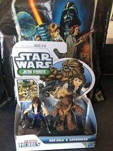 New-Star-Wars-Jedi-Force-Playskool-Heroes-Han-Solo-amp-Chewbacca-W-bag