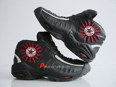 ee2724f1011 1997 VINTAGE CONVERSE REACT DENNIS RODMAN 91 BASKETBALL HI SHOES TOPS BOOTS  90`S