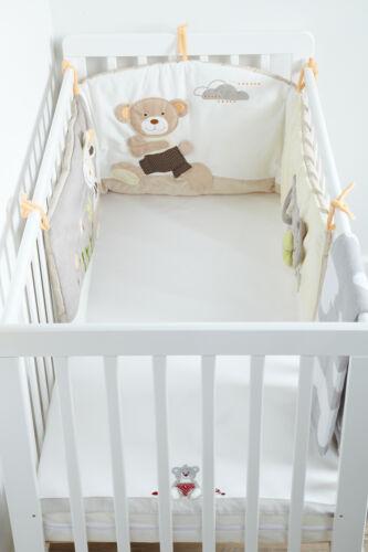 Minidream Baby Crib Bumper Cot Cotbed Pare-chocs luxe brodée Literie Nurserie