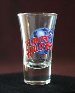 "Disneyland Paris SHOT GLASS 3.5"" Planet Hollywood Restaurant 1997 Euro Disney"