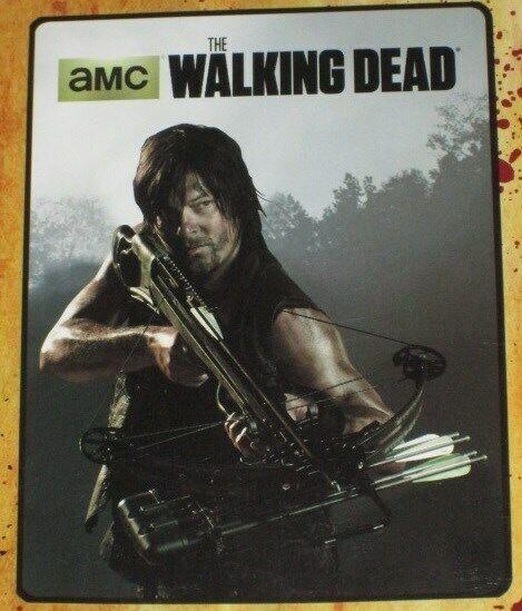 New Daryl Dixon The Walking Dead Crossbow Fleece Throw Gift Blanket AMC Zombie