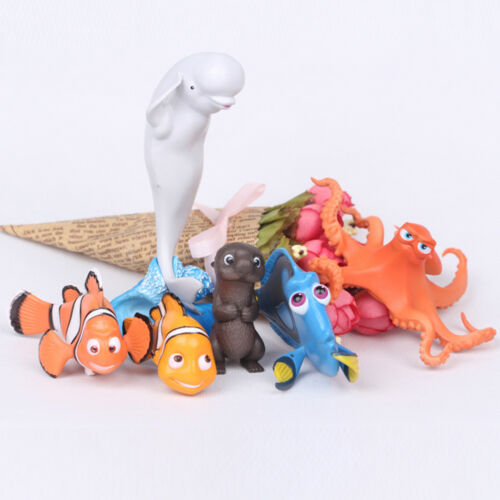 Finding Nemo Marlin Dory Movie 6 PCS Action Figure Cake Topper Kid Doll Gift Toy