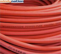 10' 2 Awg Red Welding Cable Gauge Copper Wire Battery Solar Rv Car Boat Leads