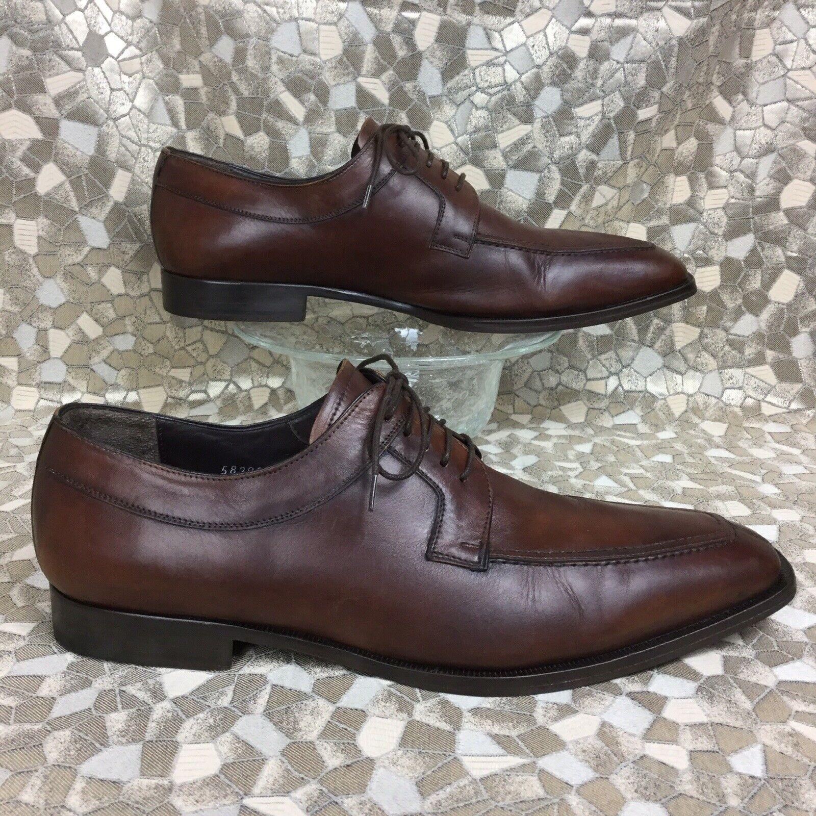MEZLAN HUNDLEY II Mahogany leather Apron Toe Oxfords dress shoe 12801 12 M