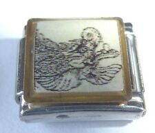 DRAGON Italian Charm DR11 - fits ALL 9mm Starter Bracelets Black & White Drawing