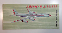 American Airlines May 1961 System Map / Brochure, 707 & Electra Jet Flagship