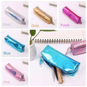 Durable-Metallic-Color-Laser-Purse-Pencil-Case-Cosmetics-Makeup-Bag-Holographic