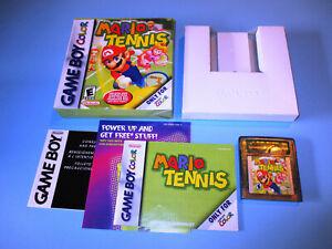 Mario-Tennis-Nintendo-Game-Boy-Gameboy-Color-Advance-Game-w-Box-Manual-Inserts