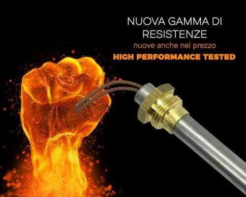 Candeletta Accensione Resistenza 400W Raccordo 3//8 Stufa Pellet12,5X205mm