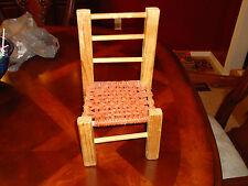 Antique Vintage Primitive Child's Doll Teddy Bear Wood, Mesh, Chair