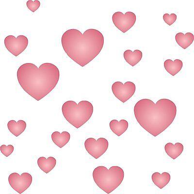 Hearts Stencil Reusable Valentine Love Shape Wall
