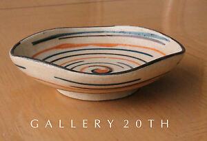 MID CENTURY MODERN ABSTRACT POTTERY DISH! VTG RAYMOR 50'S 60'S ART GAMBONI BOWL
