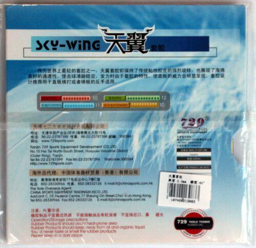 2x 729 Friendship Sky Wing Pips-in Rubber//Sponge USD New