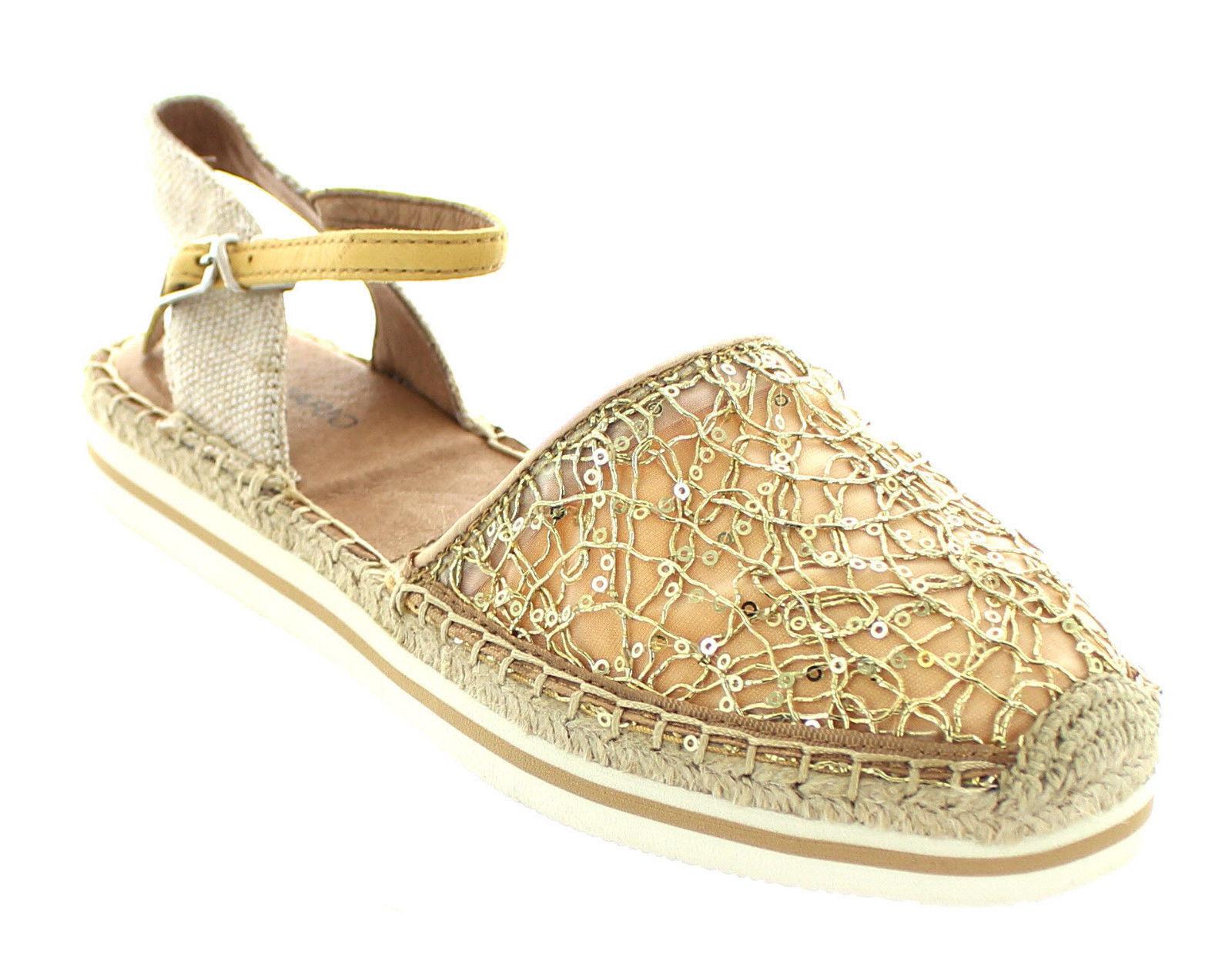 JOY & MARIO mujer rojoondo Sporty Samdals Samdals Samdals Slip-on Espadrille zapatos oro Flat  de moda