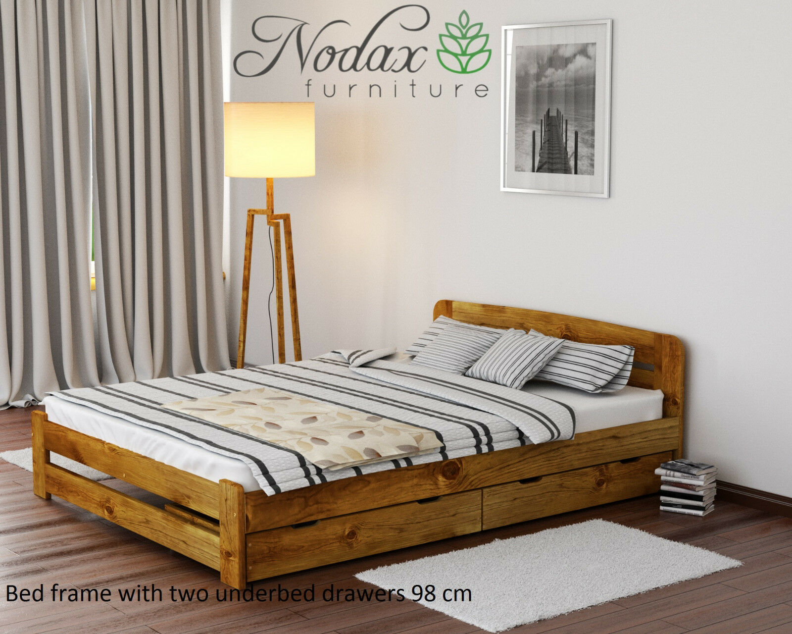 Solid Pine 6ft Super King Size Bed Frame Slats Brand New Ebay