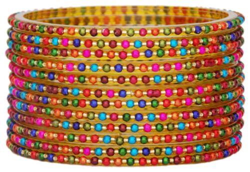Indian Bollywood Traditional Glass Bangles Set Churi Multi Color Bangle Bracelet