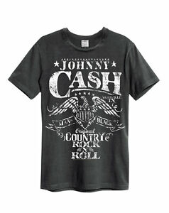Eagle Amplified Johnny Cash Men/'s Charcoal T-Shirt