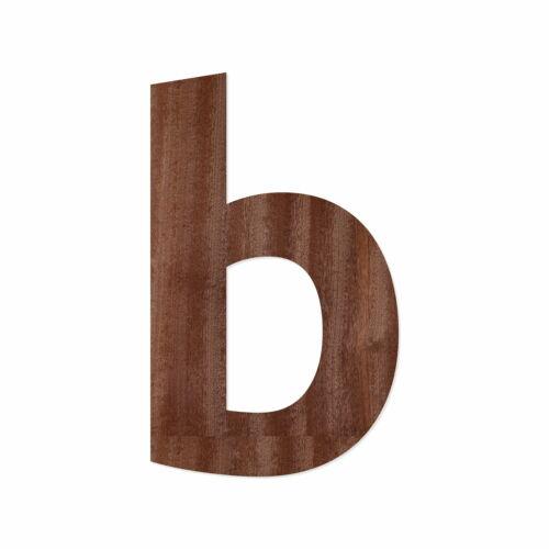 Wunschtext//Schriftzug mit Ubuntu Holz Buchstaben aus dunklem Echtholzfurnier