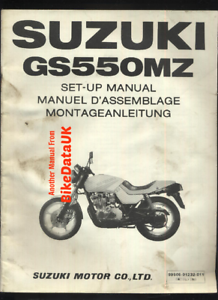 Suzuki-GS550M-Katana-1982-gt-gt-Genuine-Factory-Set-Up-Manual-GS-550-M-MZ-BV62