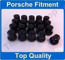 x20 M14 x 1.5 Alloy Wheel Nuts For Porsche 911 912 924 928 944 968 BLACK