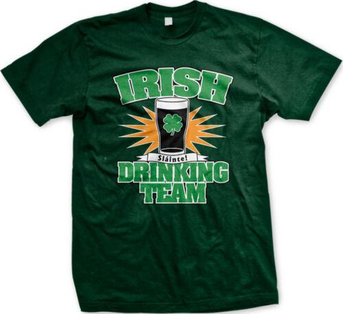 Irish Drinking Team St Patricks Day Ireland Beer Slainte Clover Eire Mens Tshirt