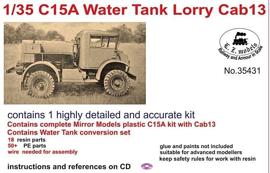 LZ MODELS C15A WATER  TANK LORRY CAB 13 + RESIN SET Scala 1 35 Cod.35431  pas cher et de la mode