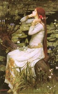 John William Waterhouse Ophelia Giclee Canvas Print