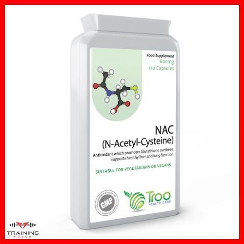 NAC N-Acetyl-Cysteine 600mg 120 Capsules Respiratory Heart Function Troo Health