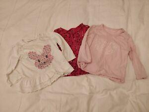 3 X Manches T-shirts - 9-12 Mois-muscade & Baby Gap-afficher Le Titre D'origine