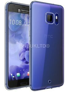 Clear-Silicone-Slim-Gel-Case-amp-Screen-Protector-For-HTC-U-Ultra