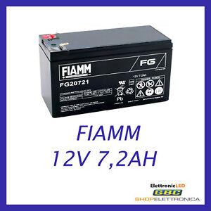 BATTERIA-FIAMM-FG20721-12V-7-2A-PIOMBO-GEL-ERMETICA-RICARICABILE-13-8v-6-3mm