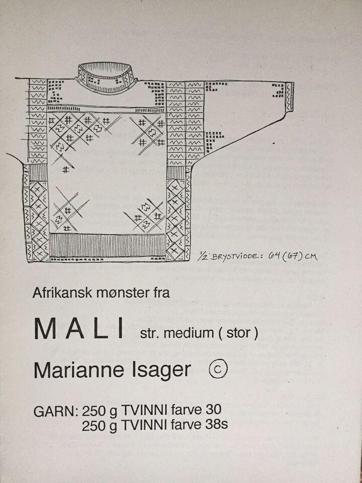 """Strikkeopskrift, """"MALI"""" - Design: Marianne Isager"""