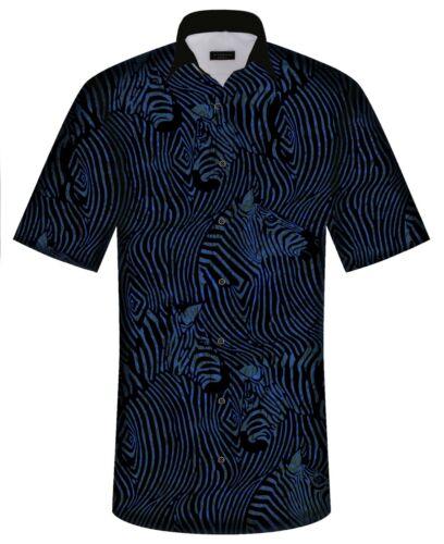 de Ovale Hawaï pasvorm Hawaiian met Design grootte Versus en Black van Shirt Normale Zebra van Mens van Xw7A0Sq