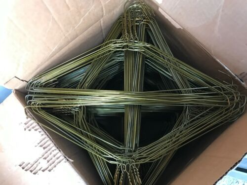 500 Metal Gold Color Wire Shirt Hanger Strong 13 Gauge