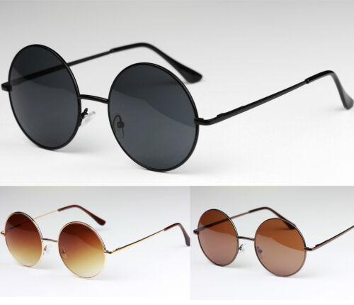 Neue hochwertige Klassisch runde Sonnenbrille Herren Damen