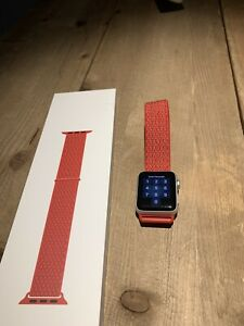 Apple Watch Series 3 38mm With 3 Bands Red Gray Black Ebay