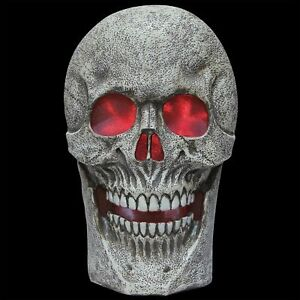 image is loading scary giant lighted skull w spooky sound halloween