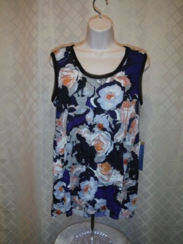 Size Multi Color NWT Sleeveless Blouses Simply Vera Vera Wang XL,L,M,S,XS